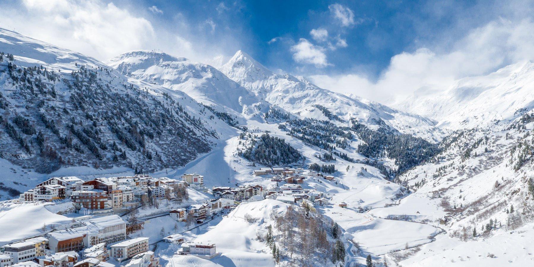 Ortsaufnahme Obergurgl im Winter