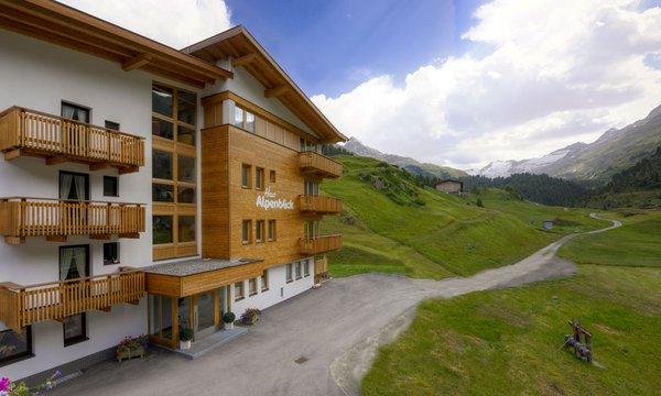 Alpenblick Obergurgl im Sommer