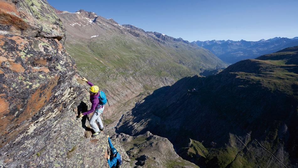 Klettersteig in Gurgl